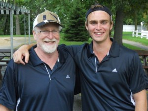 Max with his father, Jim Cavender