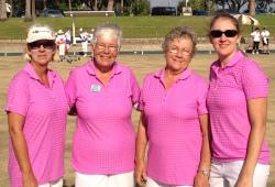 Anna Witt (far right) & fours teammates